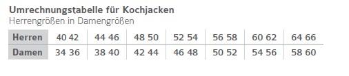 Leiber, Damen- und Herren-Kochjacke, 12/7711 S