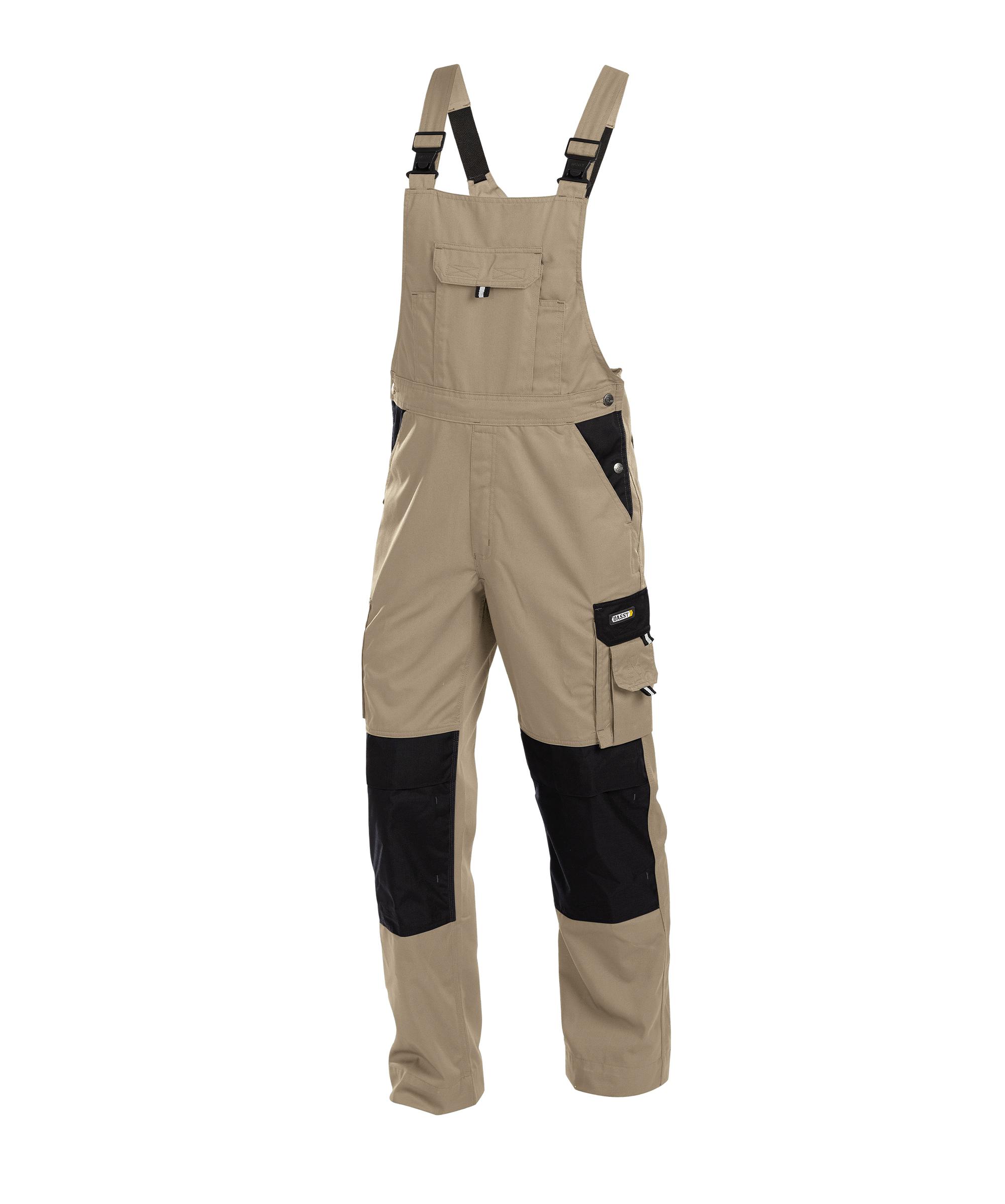 Dassy, Versailles zweifarbige Arbeitslatzhose mit Kniepolstertaschen 400124